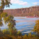 "Oil ""Hudson River from Mt. St. Vincent"" 18""x 24"""