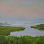 "Oil on canvas 12""x 18"" ""Approaching the Hamptons, LI"""