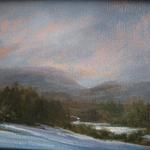 "Oil on canvas 5""x 7"" ""Winter in Catskills"""