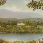 "Oil on linen ""Summer Along the Hudson"" 16""x 20"" $1100"