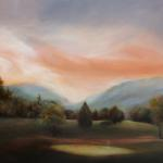 "Oil on Linen ""Colonial Golf Scene"" 24""x 36"""